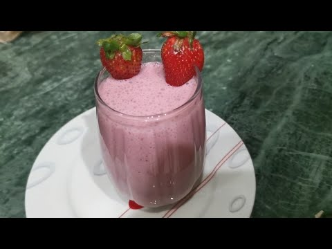"Fresh strawberry shake recipe/Summer drink/tasty shake by"" Delicious Food with FR"""