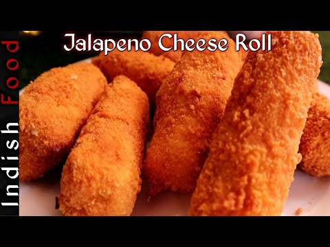 Jalapeno Cheese Rolls | Crispy & Delicious | Indish Food