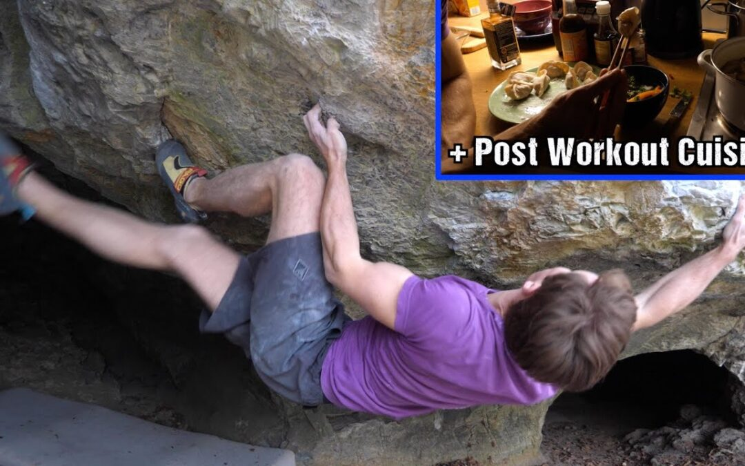 Attacking a new Boulder + Cooking Delicious Food   Textbook Vlog