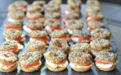 The Best Keto Mini Bagels with Cream Cheese