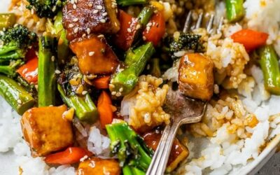 Tofu Stir Fry with Vegetables in a Soy Sesame Sauce