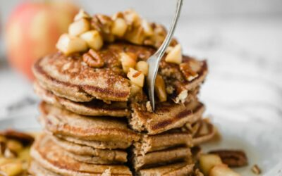 Healthy Apple Pancakes (made right in the blender!)