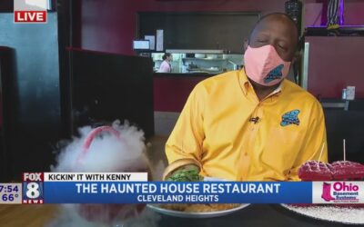 Spooky drinks & scary delicious food greets Kenny at The Haunted House Restaurant