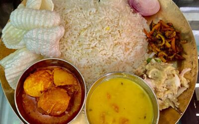 Eating Show Bengali Thali Egg curry Dal vegetable fry Bengali Delicious food😊