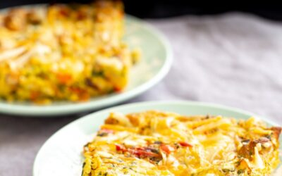 Vegan Mexican Egg Casserole with Tofu Eggs